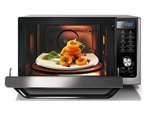 Samsung MC11H6033CT Countertop Convection Microwave with 1.1 cu. ft. Capacity, SLIM FRY Technology, Grilling Element, Ceramic Enamel Interior, Drop Down Door, and Eco Mode in Stainless Steel (Microwave Trim Kit 36 compare prices)