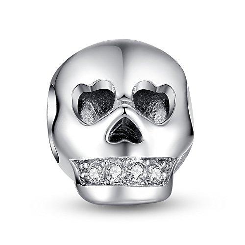 Glamulet Art Glam Skull Charm Women's 925 Sterling Silver Fits Pandora Bracelet