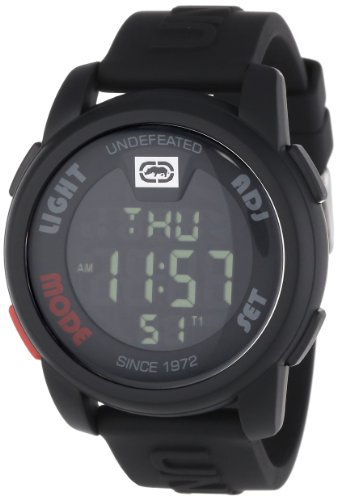 Marc Ecko Men's The 20-20 Watch E07503G1 with Black Dial and Black Resin Strap