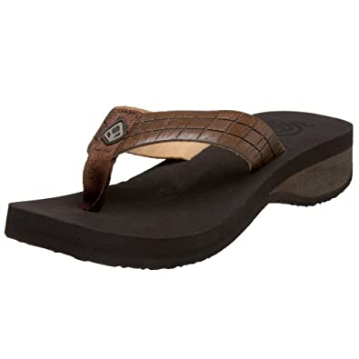 Perfect Reef Womens Cushion Butter Sandal - Brown
