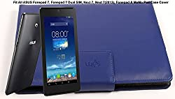 SVVM Case cover for ASUS 7inch Tablets Synthetic Lather Case cover Magnetic Closer Model : SVVM004ASUS7CBL (Blue)