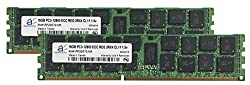 Adamanta 32GB (2x16GB) Server Memory Upgrade for Dell PowerEdge T320 DDR3 1600Mhz PC3-12800 ECC Registered 2Rx4 CL11 1.5v