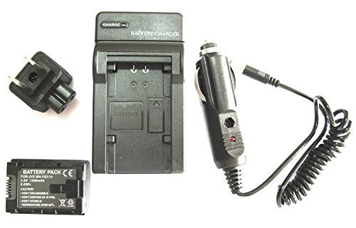 Generic Battery + Charger For Jvc Everio Gz-Ex310B Gz-Ex310Be Gz-Ex310Beu Hd Camcorder