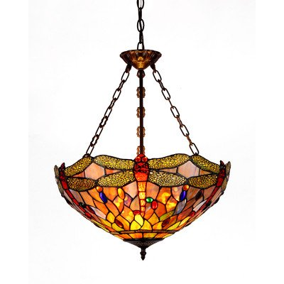 Fabulous  CHDB UH Tiffany style Dragonfly Light Inverted Ceiling Pendant Fixture