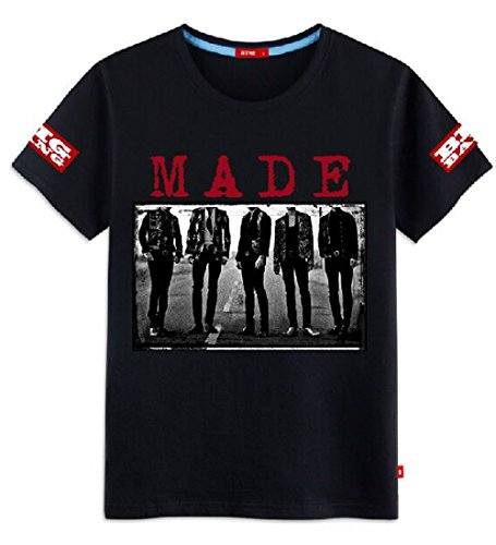KPOP Bigbang New Album MADE T-shirt G-Dragon GD Tshirt Cotton Short Sleeve Tee M Black (Big Bang Kpop Shirt compare prices)