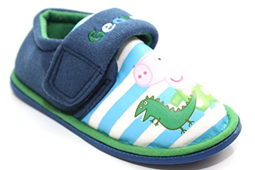 Chaussons-garons-Peppa-Pig-George-pour-enfant-Dinosaure-Taille-UK-5-10