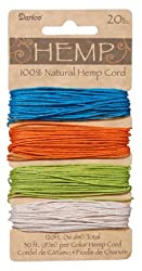 Hemp Cord, 20#, 120 Ft, Bright Colors (Pack of 1)