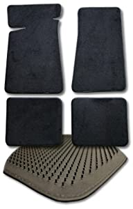 "OLDSMOBILE SILHOUETTE VAN CARPET FLOOR MATS 4PC P37/37R - 2PC FRONTS AND 2 REAR RUNNERS FOR 2ND & 3RD SEATS. FRONTS MEASURE - 28 1/2 X 22"" / REAR RUNNERS MEASURE - 17 3/4"" X 51"" - BLACK (2000 00 2001 01 2002 02 2003 03 2004 04 1997 97 1998 98 1999 99 )"""