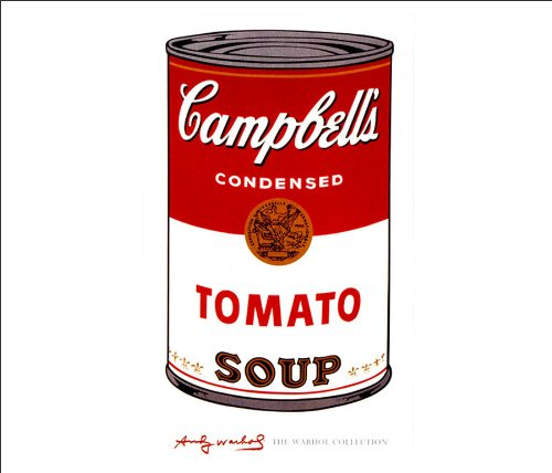 galleon andy warhol campbell 39 s tomato soup fine pop art poster print 11x14. Black Bedroom Furniture Sets. Home Design Ideas