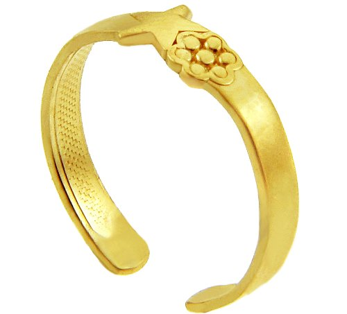 Star Yellow Gold Toe Ring (14K Gold)