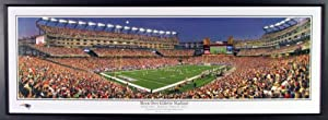 New England Patriots Moon Over Gillette Stadium Panoramic Photograph by Sports Gallery Authenticated