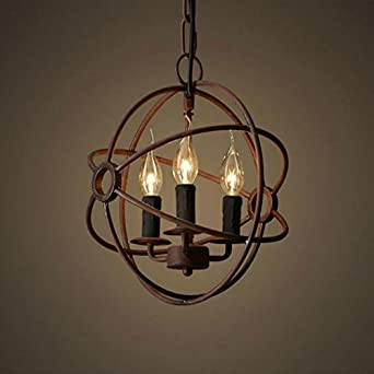 perfectshow 3 lights vintage edison metal shade round