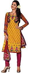 TFW Salwar Kameez Chanderi Cotton Dress Material