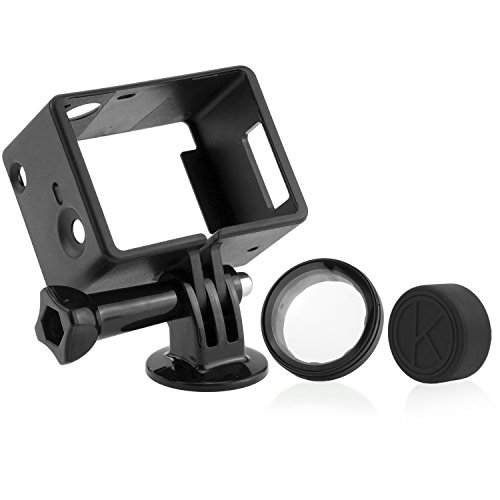 Gopro Bacpac Frame Mount By Camkix - Compatible With Gopro Hero 4 Black And Silver - Usb, Hdmi, And Sd Slots Fully Accessible - Light And Compact Housing For Your Action Camera - For Use With Lcd And Battery Bacpacs - Includes 1 Large Thumbscrew / 1 Tripo
