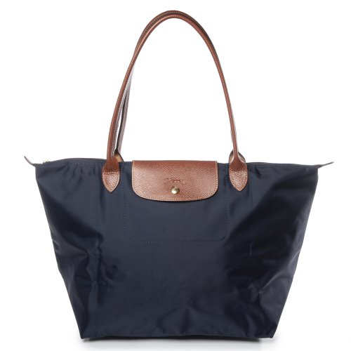 Longchamp discount duty free Longchamp Le Pliage Longhandle ToteBag Large Navy