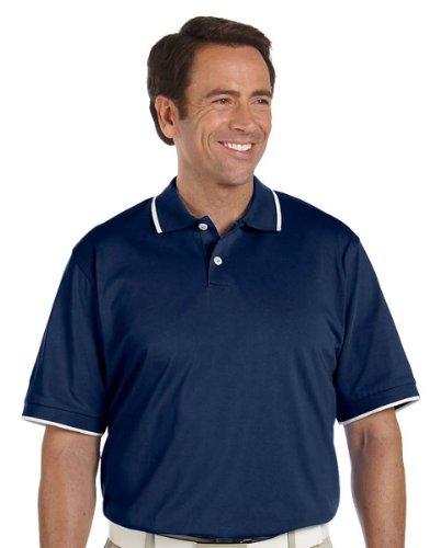 Adidas Golf A88 Men'S Climalite Tour Jersey Short-Sleeve Polo - Navy/White - Xxx-Large