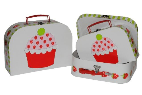 3 tlg. Set Kinderkoffer in 3 Größen ! Erdbeere
