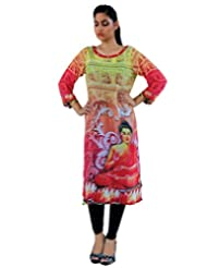 CrazeVilla Women Multi Color Digital Print Georgette Kurti - B015SHPHSE