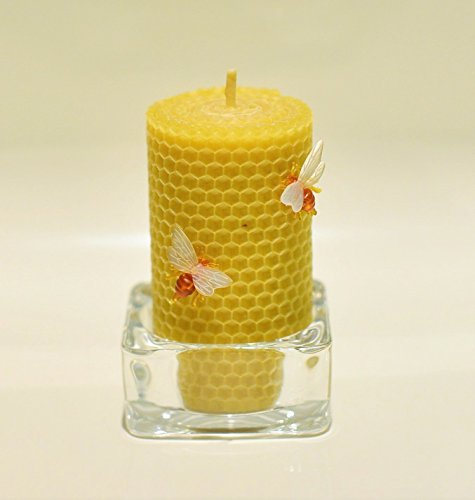 100-beeswax-handrolled-candle-size-13-x-6-cm-natural-and-lovely-honey-scent-100-handmade-with-crysta