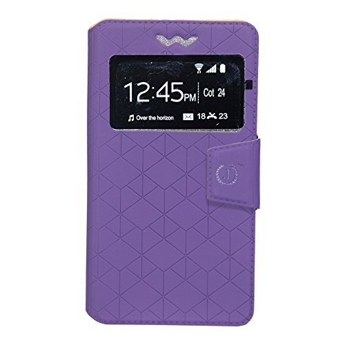Jo Jo Cover Toto Series Leather Pouch Flip Case With Silicon Holder For Samsung Galaxy S3 Neo Purple