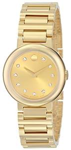 Movado Women's 0606791 Concerto Analog Display Swiss Quartz Gold Watch