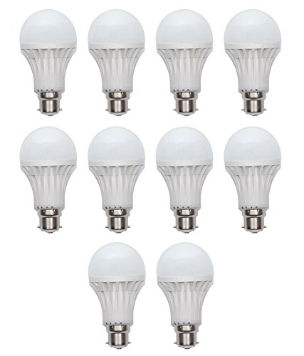 5W and 7W LED Bulbs (White, Pack of 5)