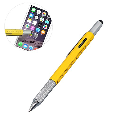 ezykoo-outil-multifonction-6-en-1-stylo-a-bille-avec-regle-en-aluminium-levelgauge-2-tournevis-et-st