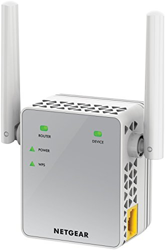 Netgear EX3700-100PES Ripetitore Wireless AC750 Mbps, Dual Band, Access Point Mode, 1 Porta Fast Ethernet, Antenne Esterne, Bianco
