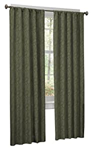 Maytex Sadie Paisley Window Panel, 40-Inch-by-84-Inch, Sage