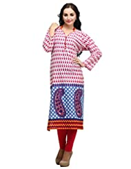 Dashmesh Womens Cotton Straight Kurta (De117 _Pink )