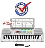 Ellegance KB49SV Children 49 Keys Electronic Piano Music Keyboard, Silver