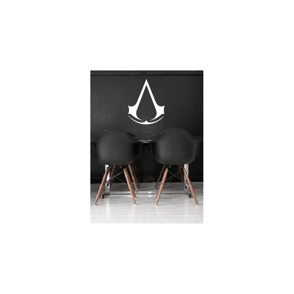 Assassins Creed Wall Art Sticker Decal Peel and Stick. White