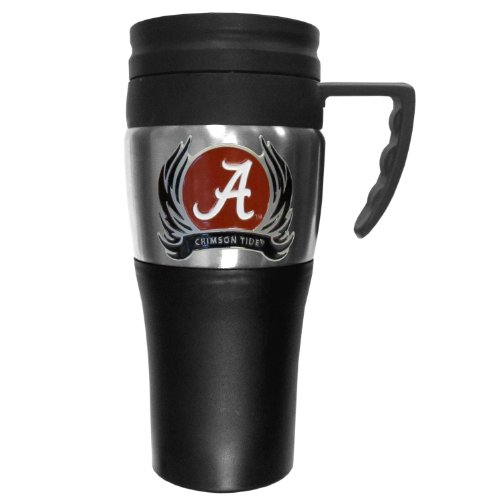 Ncaa Alabama Crimson Tide 2 Toned Travel Mug With Flame Logo