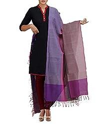 Unnati Silks Women Multicolor Pure Handloom Andhra Khadi Cotton chunni