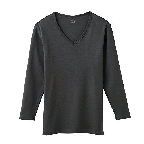 (グンゼ)GUNZE 紳士 YG(ワイジー) COTTON100% ダブルホット Vネック9分袖シャツ YV0209 94 チャコールグレー M