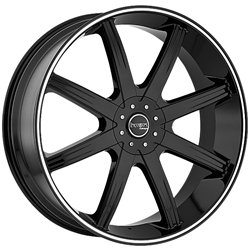 Incubus 840 Empire 24×9.5 Black and Machined Wheel / 5×114.3mm 5x127mm/ 35mm Offset / 83.7mm Hub Bore