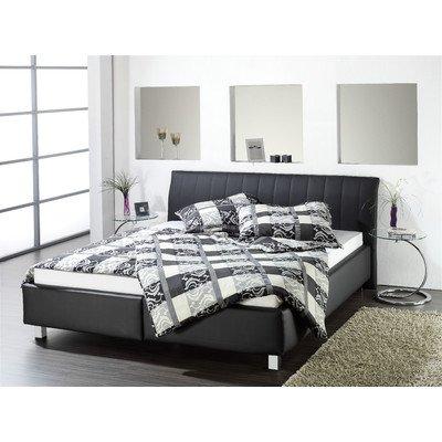Polsterbett Arrentela Farbe: Schwarz, Liegefläche: 180 x 200 cm, Matratze: Bonellfederkernmatratze günstig online kaufen