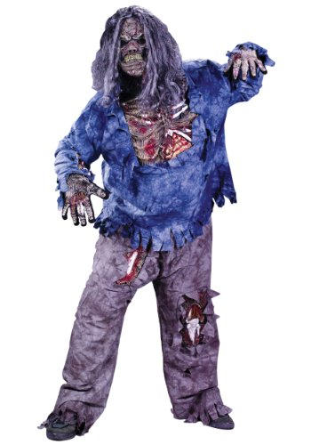 Fun World Men's Complete 3D Zombie Skeleton Costume