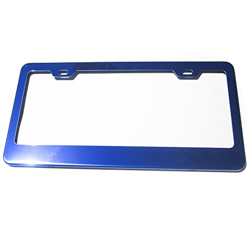 Candy Blue Powder Coated 100% Stainless Steel License Plate Frame Holder Tag (Candy License Plate Frame compare prices)