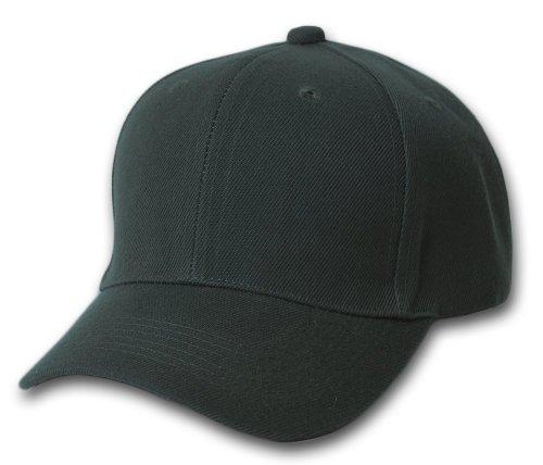 10-pack-lot-plain-baseball-cap-blank-hat-solid-color-velcro-adjustable-13-colors-black