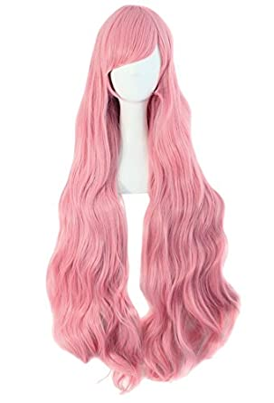 "MapofBeauty Pink Long Party Costume 40"" 100cm Cosplay Wig"