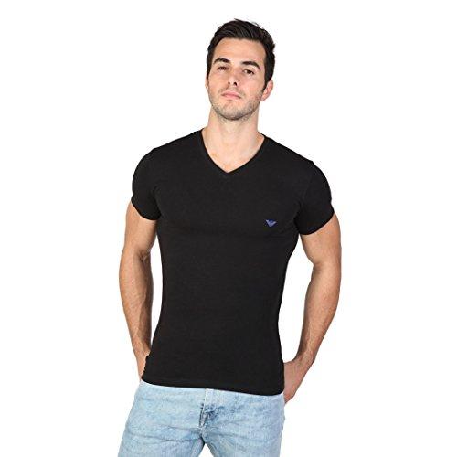 Emporio Armani - 110810, T-shirt da uomo, nero (noir), Medium