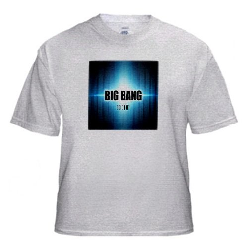 Big Bang graphic design depicting the Big Bang as original explosion of the universe - Adult Birch-Gray-T-Shirt Large