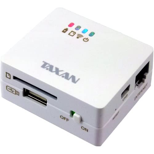TAXAN MeoBankSD ワイヤレスSDカードリーダー&WiFiルーター MBSD-SUR01/W