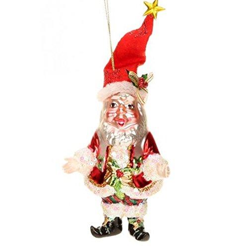 Mark Roberts Glass Christmas Ornament 36-44060 Jolly Old Elf