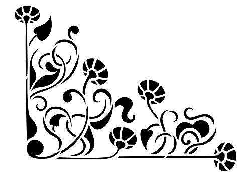 artemio-a4-plantilla-para-estarcir-diseno-de-esquina-floral