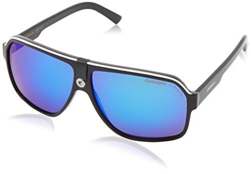 Carrera Carrera 33/S CA33S Aviator Sunglasses, Black Crystal/Gray/Blue, 62 mm (Sunglasses Carrera Blue compare prices)