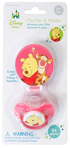 Pooh Bear Pacifier & Pacifier Holder