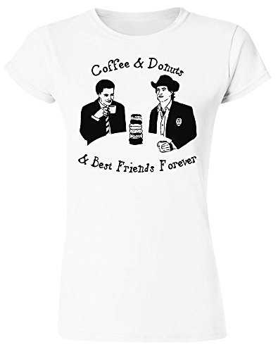 Twin Peaks Coffee And Donuts And Best Friends Forever Design Women's T-Shirt Extra Large