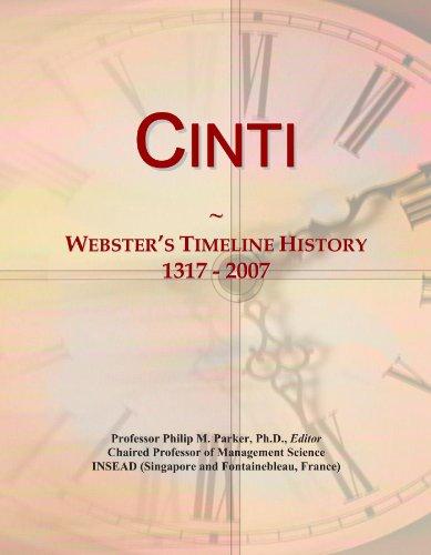 Cinti: Webster's Timeline History, 1317 - 2007